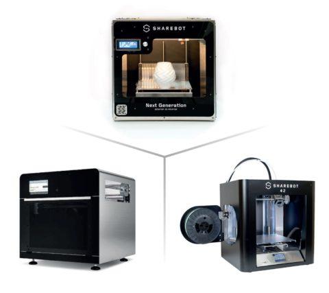 Tre stampanti 3d, quali sono i migliori prezzi? Il migliore costo stampante tridimensionale e i modelli stampanti 3 d sharebot.