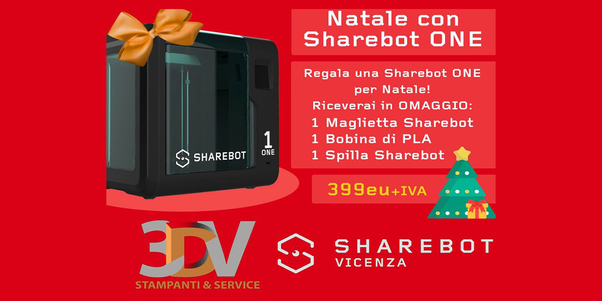 Promo Natale Sharebot ONE